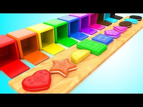 Thumbnail: Learn Colors & Shapes for Children with Color OREO Biscuits Shapes 3D Kids Baby Learning Educational