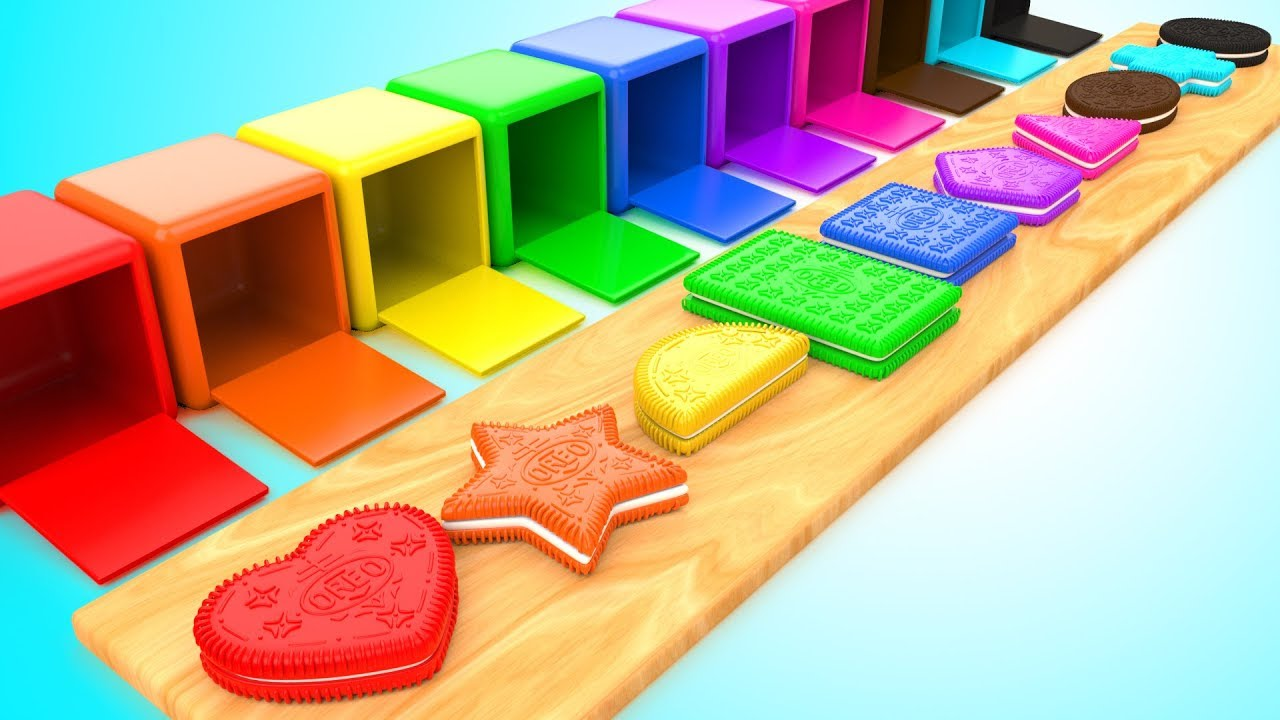 Download Shapes & Colors for Children with Color Cream Biscuits Shapes 3D Kids Baby Learning Educational