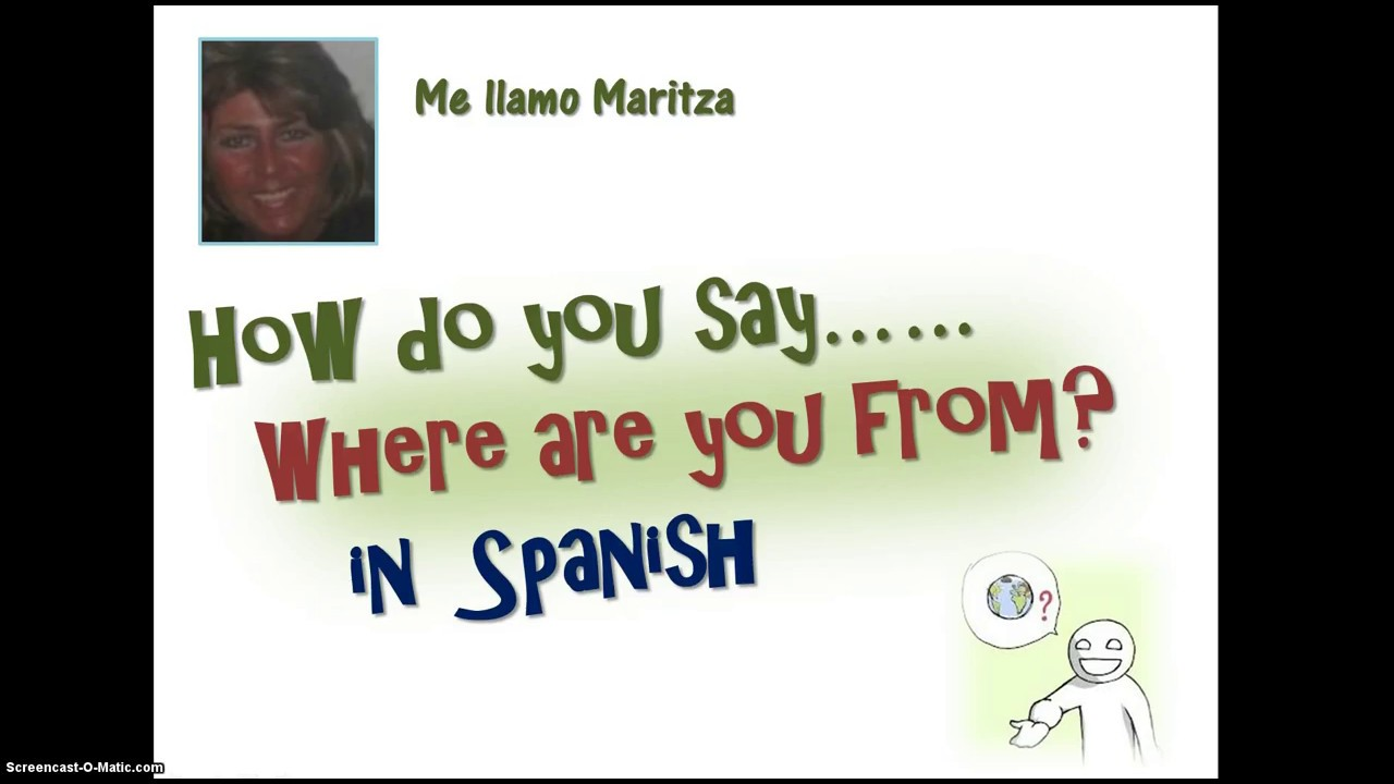 How Do You Say 'where Are You From' In Spanish  Youtube. How Long Can You Defer Student Loans. Photography Classes Harrisburg Pa. Respiratory Therapist School California. Private Wealth Management Definition. Nmu College Of Business Old Town Dental Center. What To Use To Get Rid Of Mold. Israeli Military Requirements. Hospital & Health Care Professional