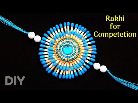 DIY : How to make Rakhi at home with Matchsticks | Rakhi making for competition 2019