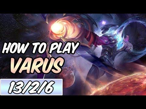 HOW TO PLAY VARUS | Build & Runes | Diamond Commentary | Dark Star Varus | League of Legends