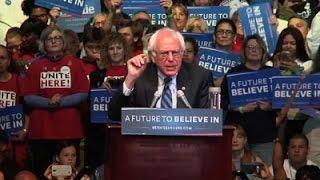 Sanders Takes on Trump in Atlantic City