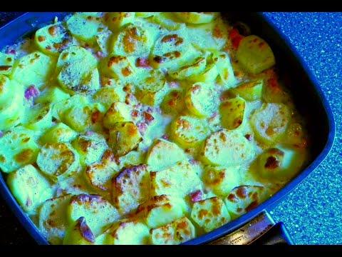 Nejlepší zapečené brambory se šunkou (Baked potatoes with ham) - videorecept