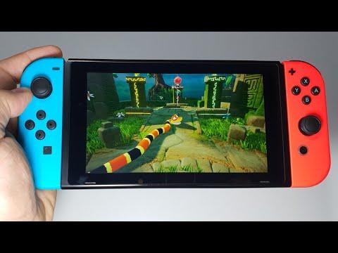 Snake Pass Nintendo Switch Handheld Gameplay