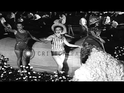 Cotton Carnival Parade At Memphis. HD Stock Footage
