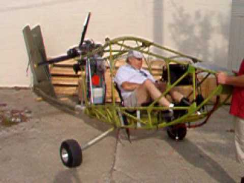 Chuck sitting in his CGS Hawk Plus test running the engine