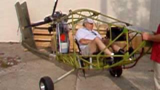 Chuck sitting in his CGS Hawk Plus test running the engine