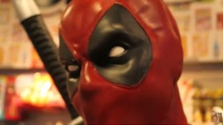 LIFE SIZE DEADPOOL STATUE BY NECA