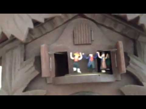 & DRGM Three door musical cuckoo clock as found - YouTube