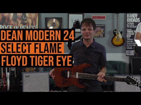 Dean Modern 24 Select Flame Floyd Tiger Eye demo