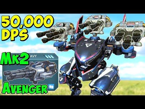 50k DPS Full Mk2 Avenger Falcon Gameplay War Robots Viewer Request WR
