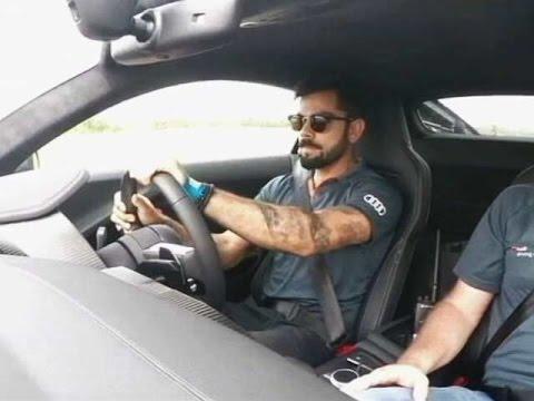 Audi R8 V10 Plus with Virat Kohli