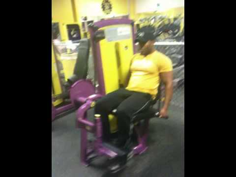 planet fitness leg extension machine  youtube