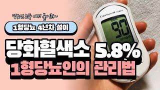 1형당뇨 설이, 당화혈색소 5.8% 당뇨인의 관리법