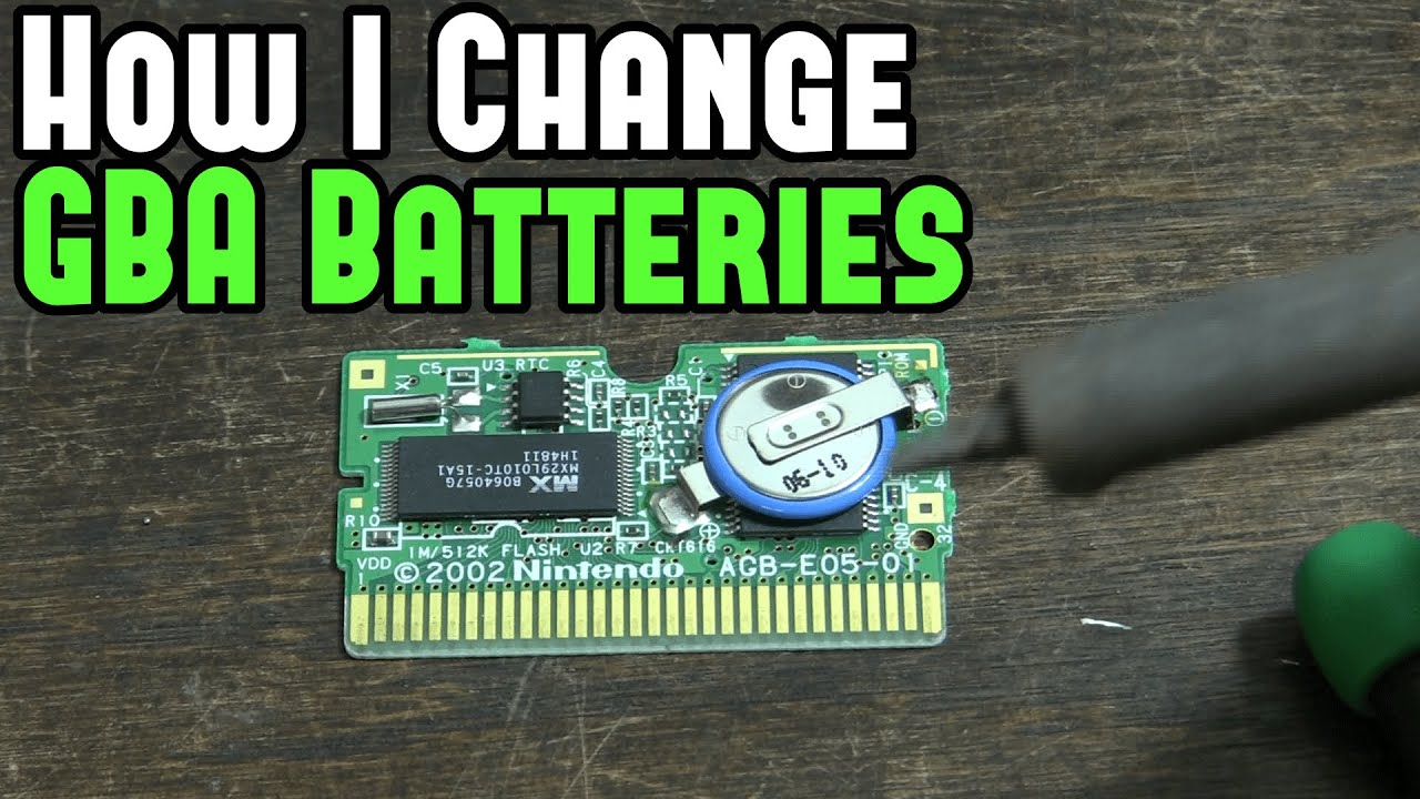 how to change a gba game battery