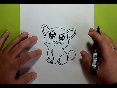 Como dibujar un gato paso a paso 20  How to draw a cat 20  YouTube