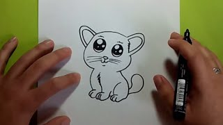 Como dibujar un gato paso a paso 20 | How to draw a cat 20