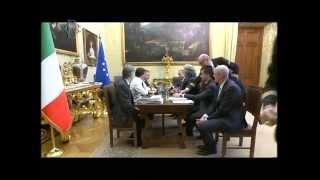 Il video integrale trasmesso in streaming dalla webtv e dal canale della camera, dell'incontro tra presidente incaricato renzi la delegazione de...