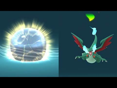 I caught Shiny Charizard in raid and evolve into Mega Charizard X or Y?