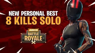 NEW PERSONAL BEST 8 KILLS SOLO - Fortnite Battle Royale Gameplay - Disturb Reality