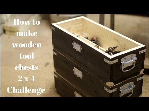 How to make DIY wooded tool chests, Summers Woodworking 2x4 Challenge 2016