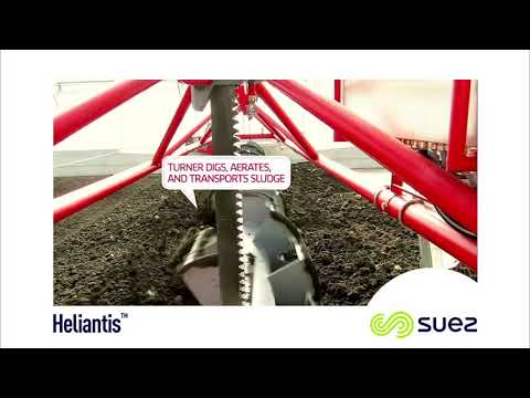 Heliantis™ solar sludge drying reduces the quantity of dewatered sludge