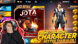 I Got New Jota Character From Character Royale New Game Changing Character At Garena Free Fire 2020