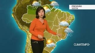 Previsão Brasil – Chuva aumenta no ES e litoral do NE
