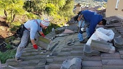 How to  roof leak repair for cement roofing tiles - Orange County, Ca