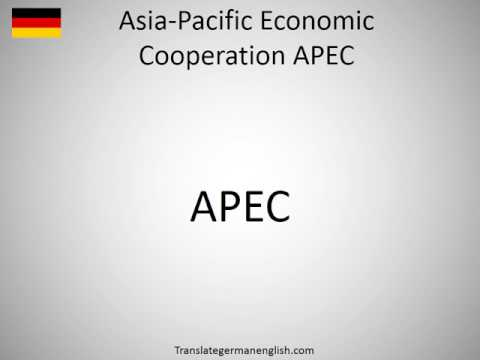How to say Asia-Pacific Economic Cooperation APEC in German?
