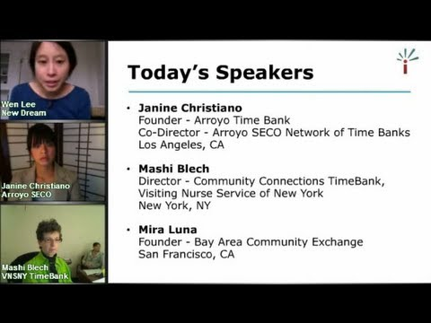 Webinar Recording: How to Start a Time Bank & Skill Exchange