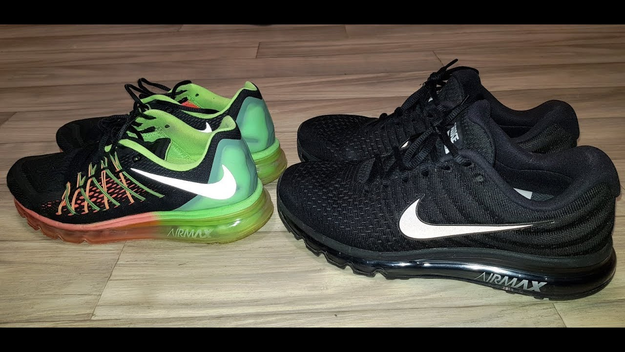 735cbe3298 Nike Airmax 2017 vs Nike Airmax 2016 full Comparison and review ...