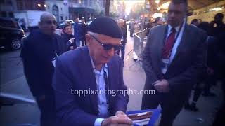 Terrence McNally signs autographs for TopPix