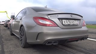 BRABUS 850 6.0 Biturbo CLS63 S AMG - INSANE REVS & DRAG RACE!