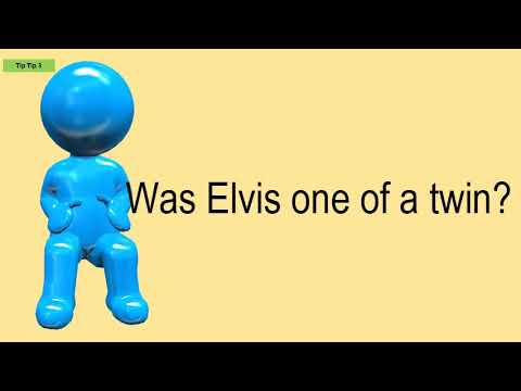 Was Elvis One Of A Twin?