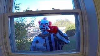 Scary Clown Chases Kids
