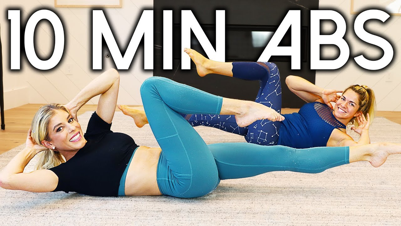10 Minute Ab Workout at Home No Equipment! |  Rebecca Maddie fitness