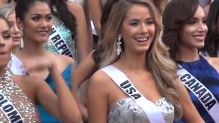 The 2015 MISS UNIVERSE CONTESTANTS arrive in LAS VEGAS