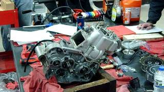2-stroke dirtbike motocross top end piston cylinder removal part 6
