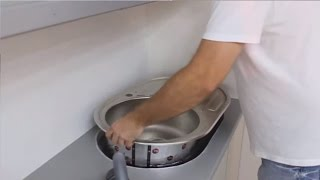 Установка врезной раковины на кухне | как врезать кухонную мойку | Установка раковины(Здесь вы можете увидеть подробную установку врезной кухонной раковины в столешницу Как подключить кран..., 2015-10-13T22:15:45.000Z)