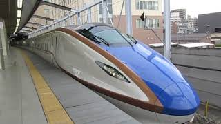 北陸新幹線W7系あさま620号東京行長野駅発車