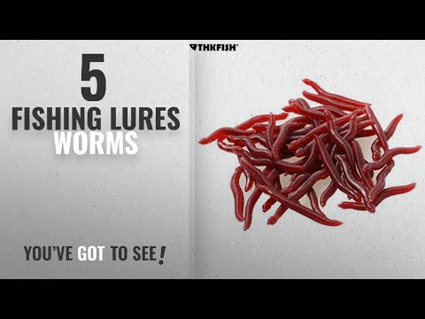 Top 10 Fishing Lures Worms [2018]: Small! 80pcs 4cm Earthworm Red Worms Soft Fishing Lure Baits