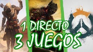 1 DIRECTO, 3 JUEGOS!! Dark Souls 3, Overwatch, Assassins Creed Origins [Malphilian]