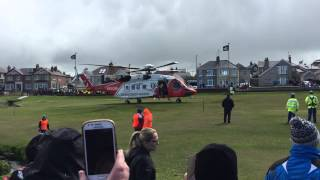 North West 200 Irish Coast Guard Rescue 118 taking off 16th May 2015