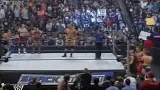 Batista /w 3 Mans vs La Familia tag team match part 1