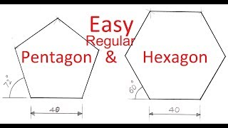 Simpler method to draw Pentagon and Hexagon thumbnail