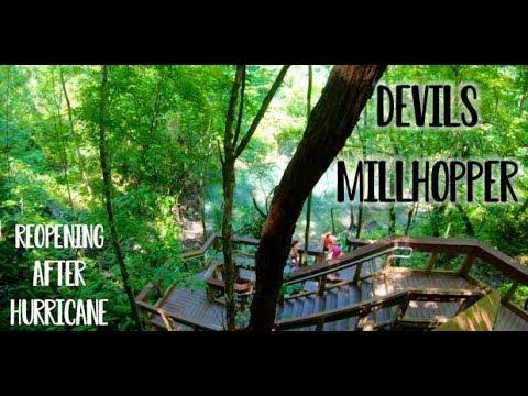 DEVIL'S MILLHOPPER SINKHOLE AFTER HURRICANE IRMA