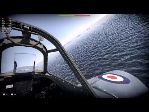 "War Thunder Simulacion Supermarine Seafire ""Shark operation"""