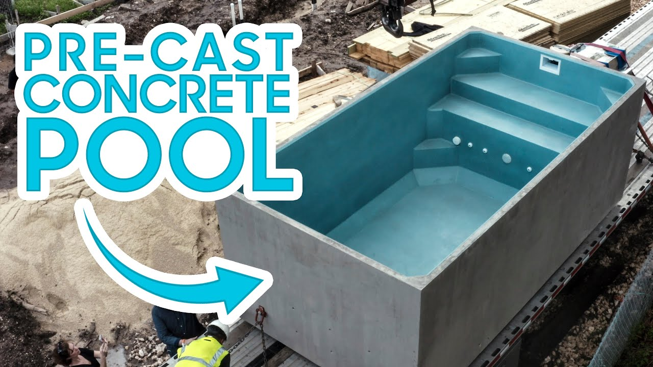 Pre-Fab CONCRETE Pool - Under $25k + 2 Day Install!