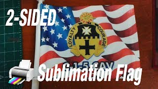 Sublimation printing flags, 1-sided or two-sided